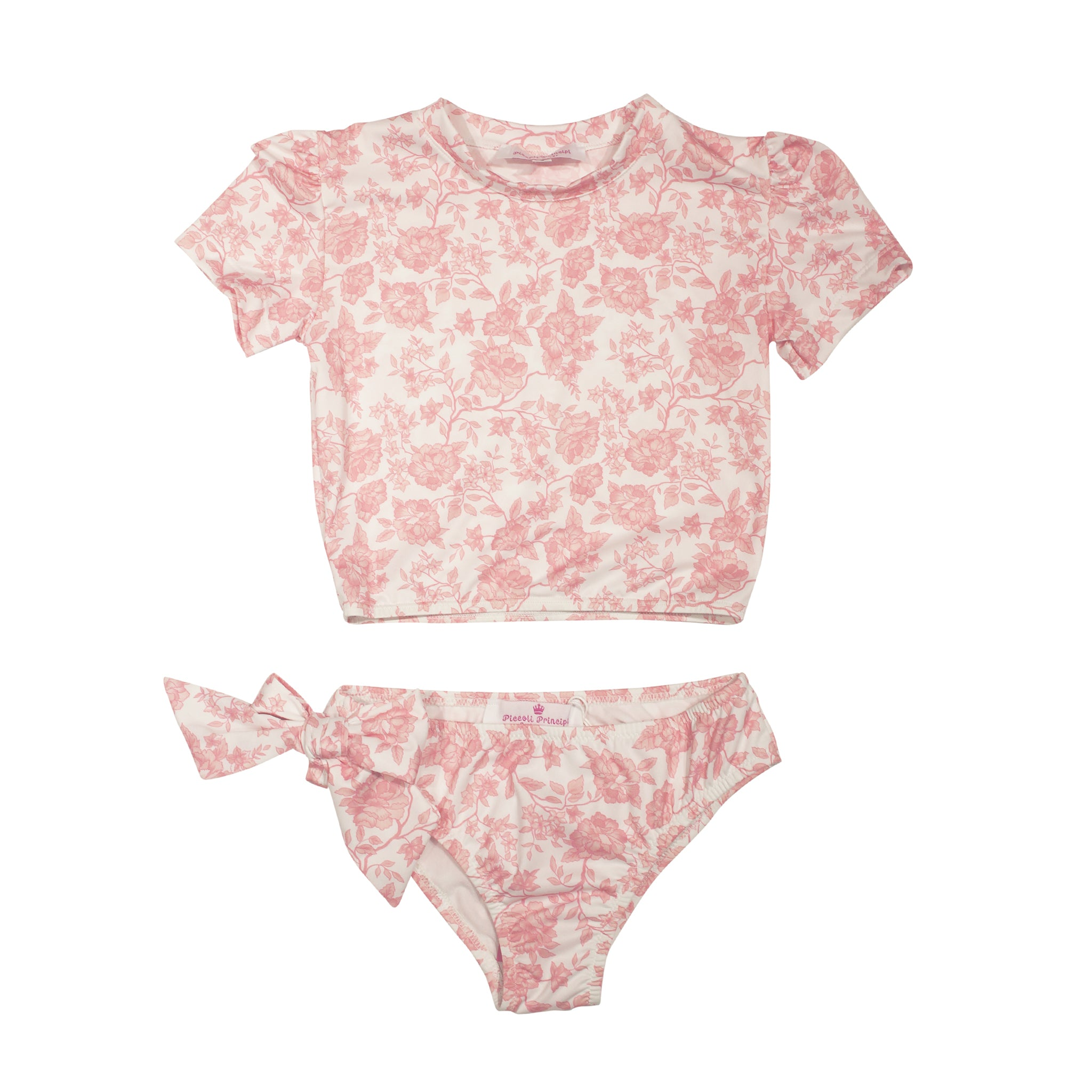 UPF50+ Martinica White Antique Rose Two Piece (Toddler + Little Girl)