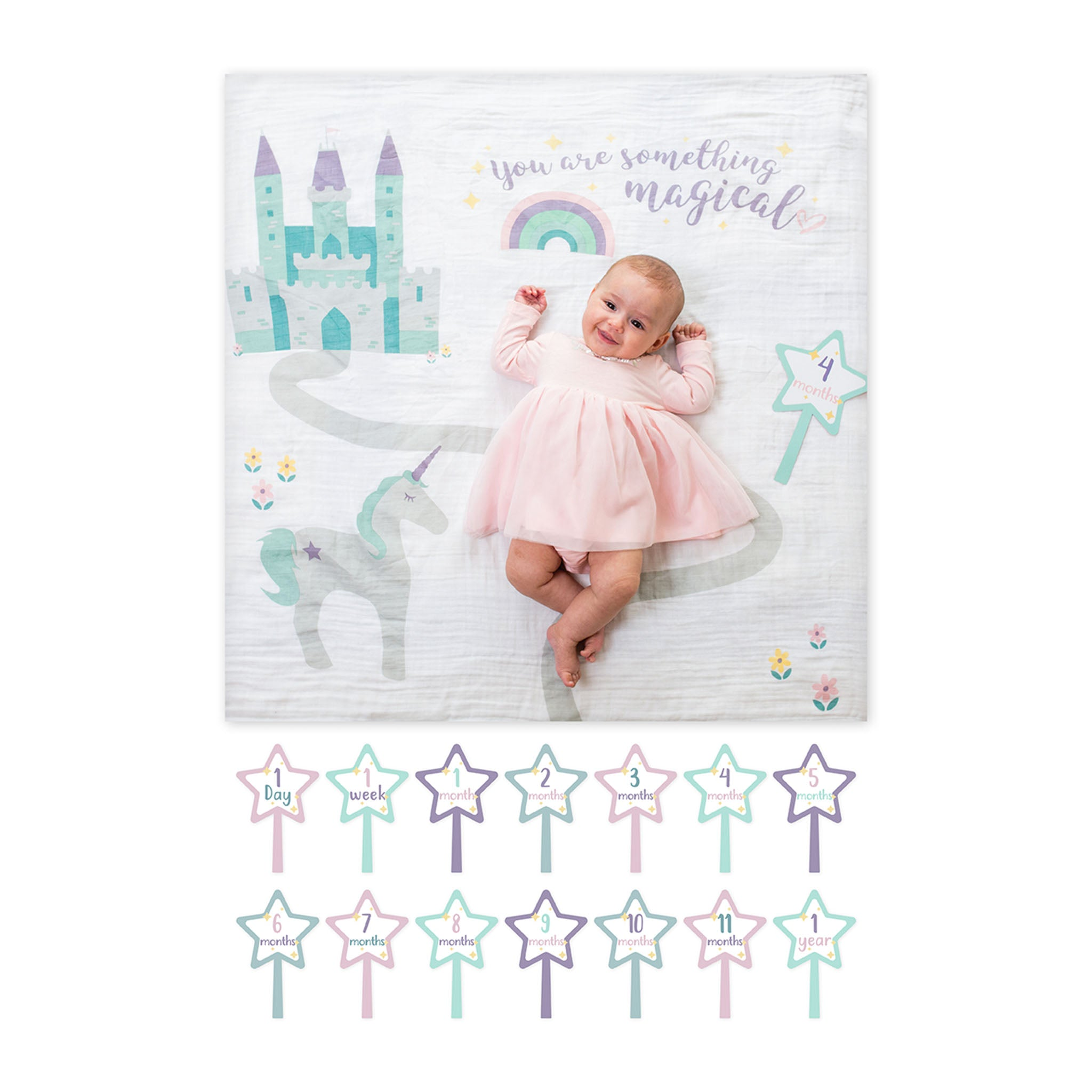"Cotton ""Something Magical"" First Year Blanket (Baby Girl)"