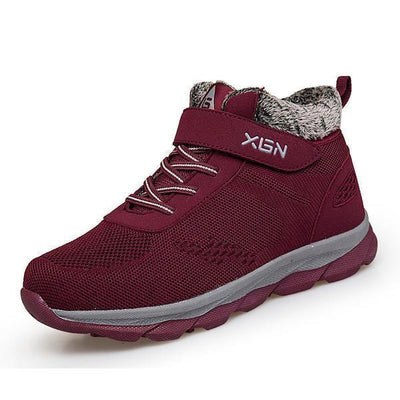 Women's Snow Resistant Plus Velvet Cotton Walking Shoes