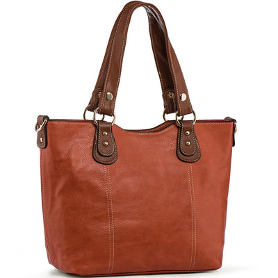 Women's Shoulder Tote PU Leather Top Handbags