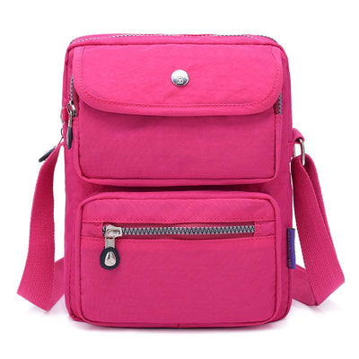 Fashion Nylon Small Bag Women Crossbody Bag Casual Messenger Bag Zipper Shoulder Bag