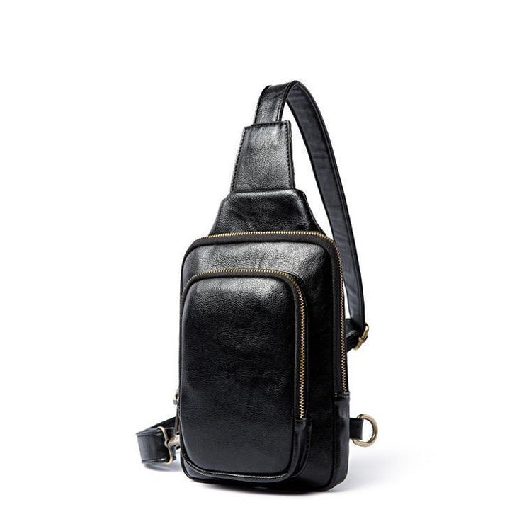 EDC  Vintage Leather Chest Bag For Men