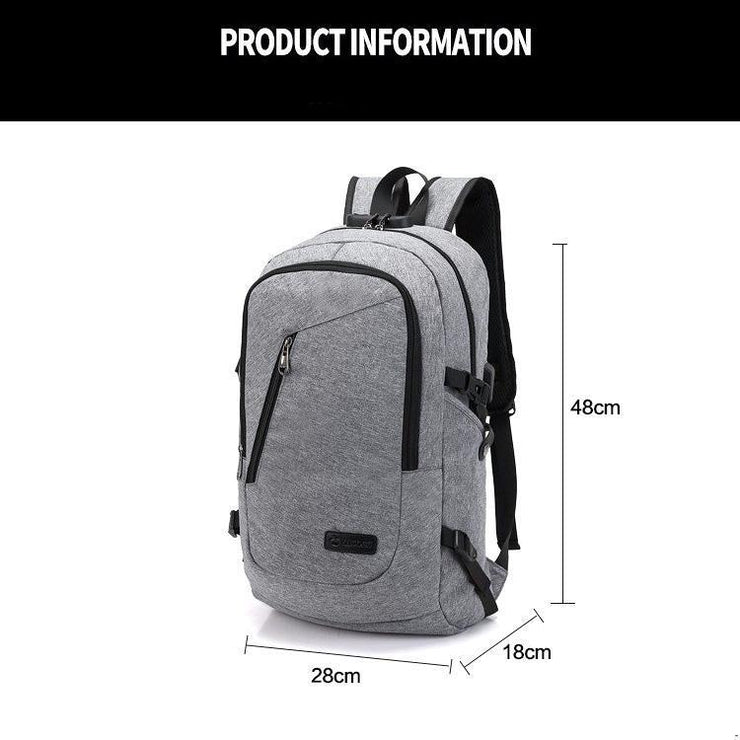 Backpack with USB Charging Port