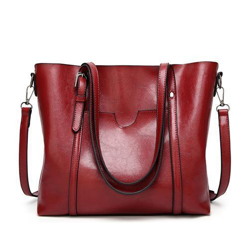 Women Casual Front Pockets Shoulder Handbags