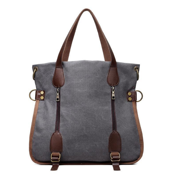 Canvas Tote Top Handle Bag