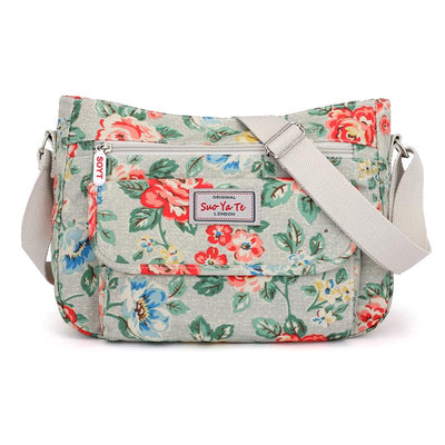Flowers Printing Women Bag Waterproof Nylon Ladies  Large Crossbody Shoulder Handbags