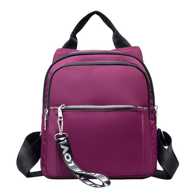 Nylon Women Shoulder Travel Backpack