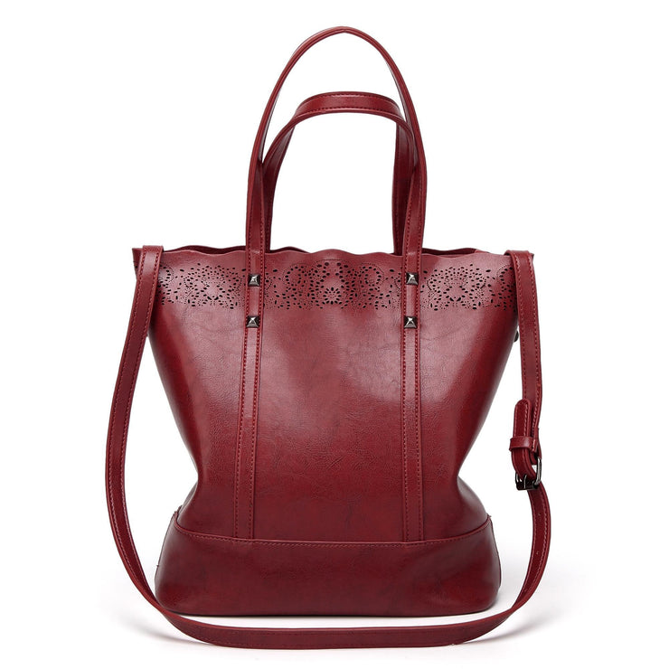 Fashion Large Capacity PU Leather Women Handbags Ladies High Quality Casual Tote Bags  114258