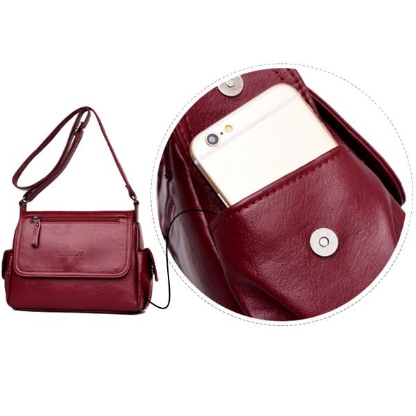 Women PU Soft Crossbody Bags Large Capacity Shoulder Bags