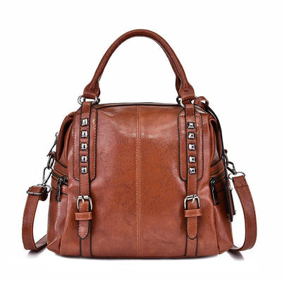 Women Retro Leather  Handbag Shoulder Bag Crossbody Bags