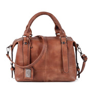 Women High Quality Retro Boston HandBag Causal Leather Crossbody Bags