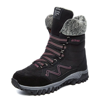 Women's Water-Resistant Warm Plush Hiking Boots