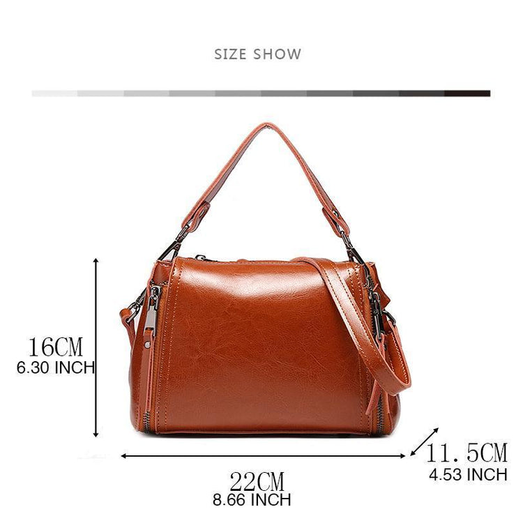 Vintage Genuine Leather Handbag Shoulder Bag