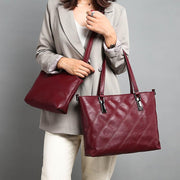 Large Capacity Leather Tote Bag