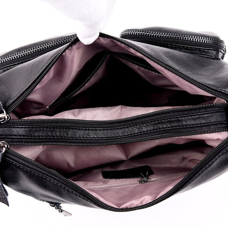Large Capacity Leather Crossbody Shoulder Bags