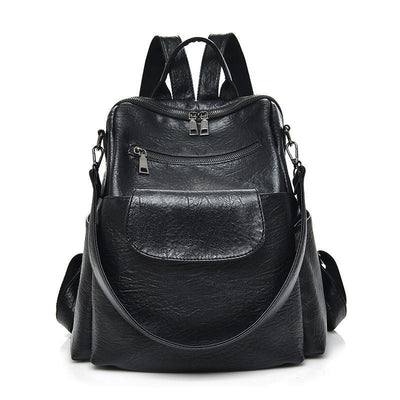 Women Large Capacity Leather Backpack Shoulder Bag