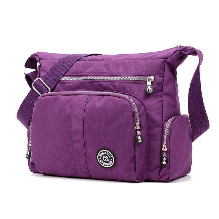 Women Waterproof Women Solid Zipper Crossbody Bags
