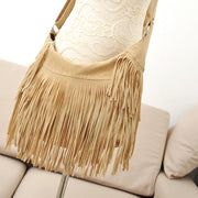Fashion Women Velvet Tassel Crossbody Bags