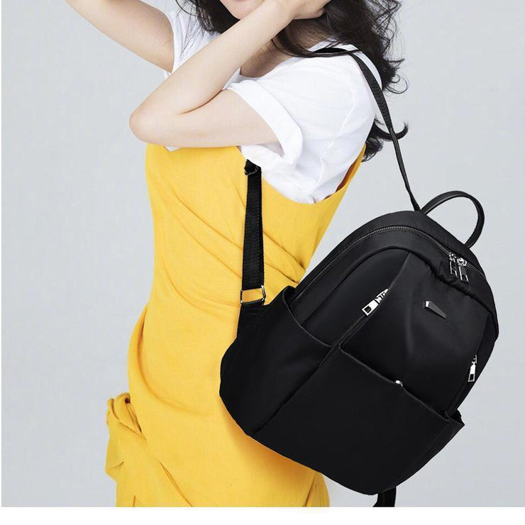 Oxford Waterproof Women Travel Anti Theft Backpack