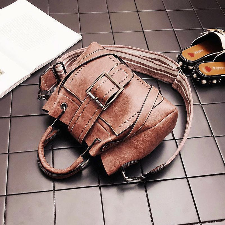 Large Capacity Women Vintage Bucket Handbags