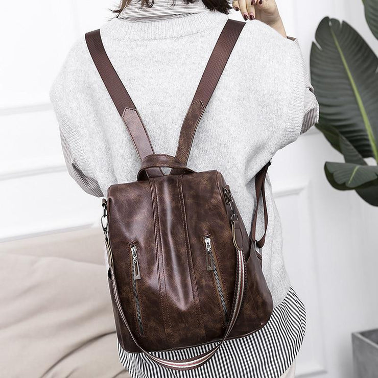 Vintage Stylish Daily Anti-theft Backpack