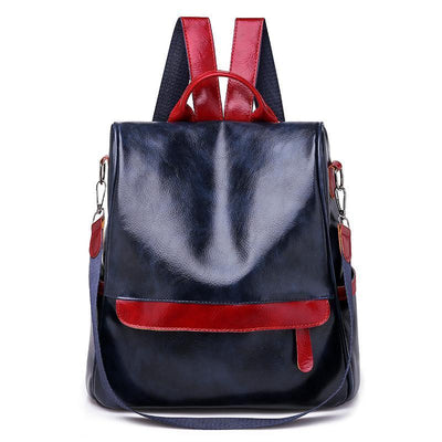 Women Anti-Theft Waterproof Leather Backpack