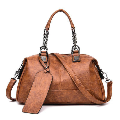 Women Multifunction Vintage Boston Handbag Crossbody Bags