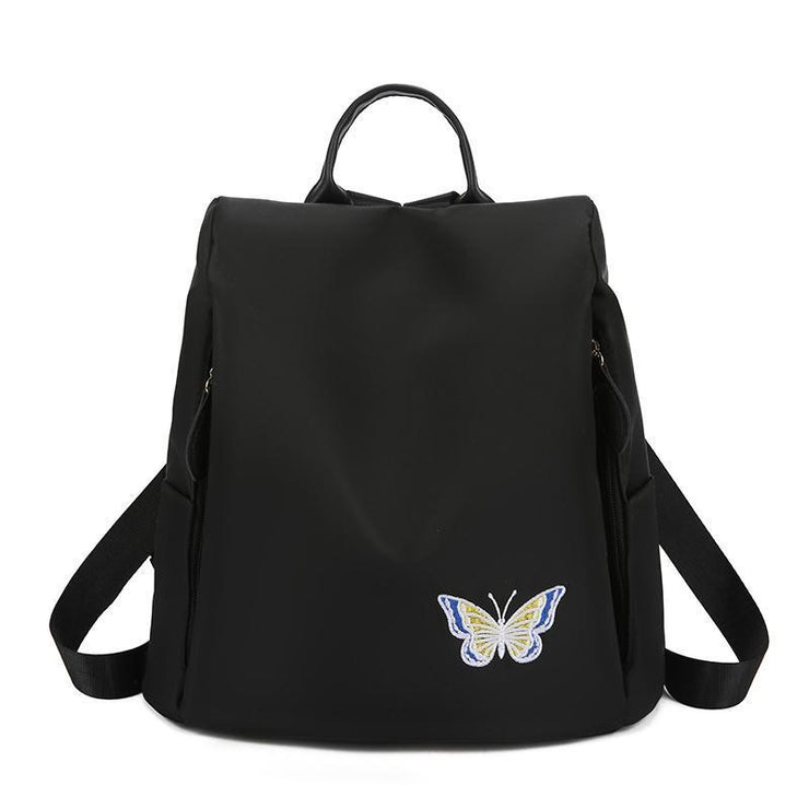 Anti-theft Embroidery Oxford Backpack