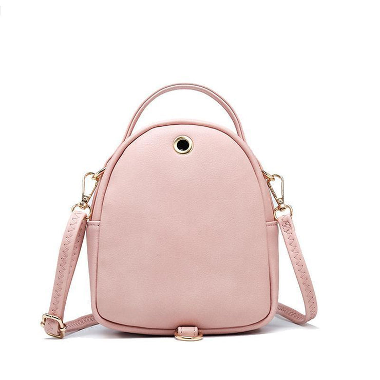 Plain Design 3-way Use Crossbody Bag Backpack
