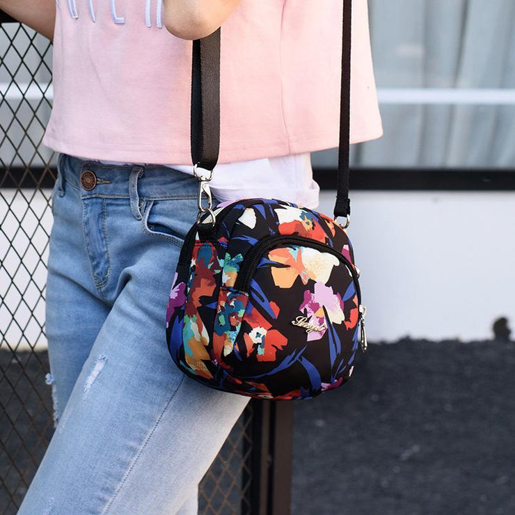 Waterproof Colorful Print Shoulder Bag