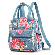 Floral Multifunction Waterproof Nylon Backpack