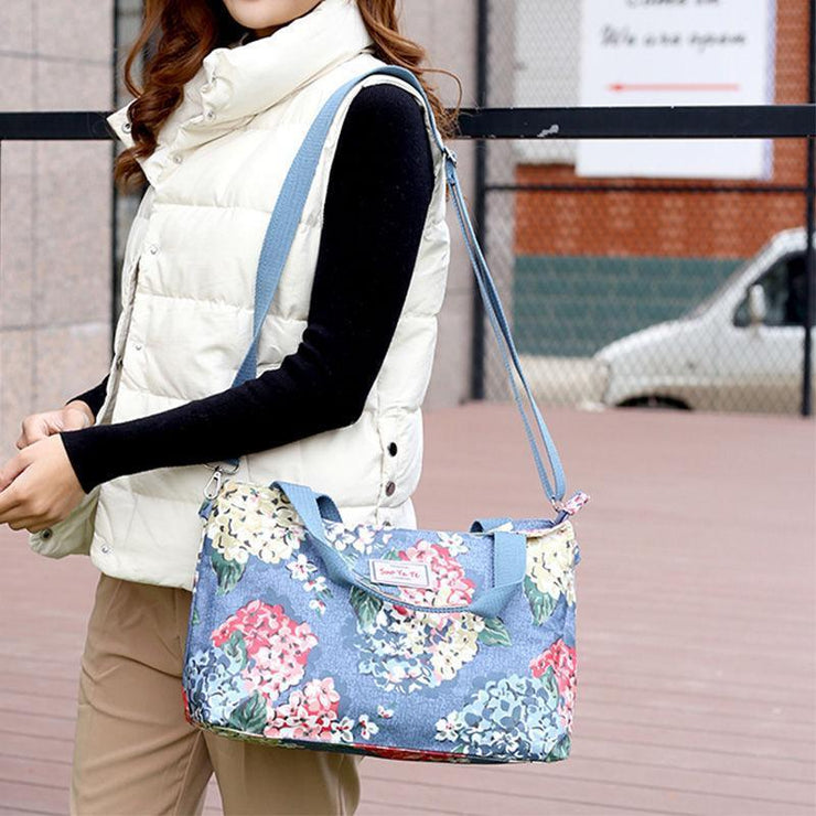 Floral Printing Large Capacity Waterproof Tote Bag