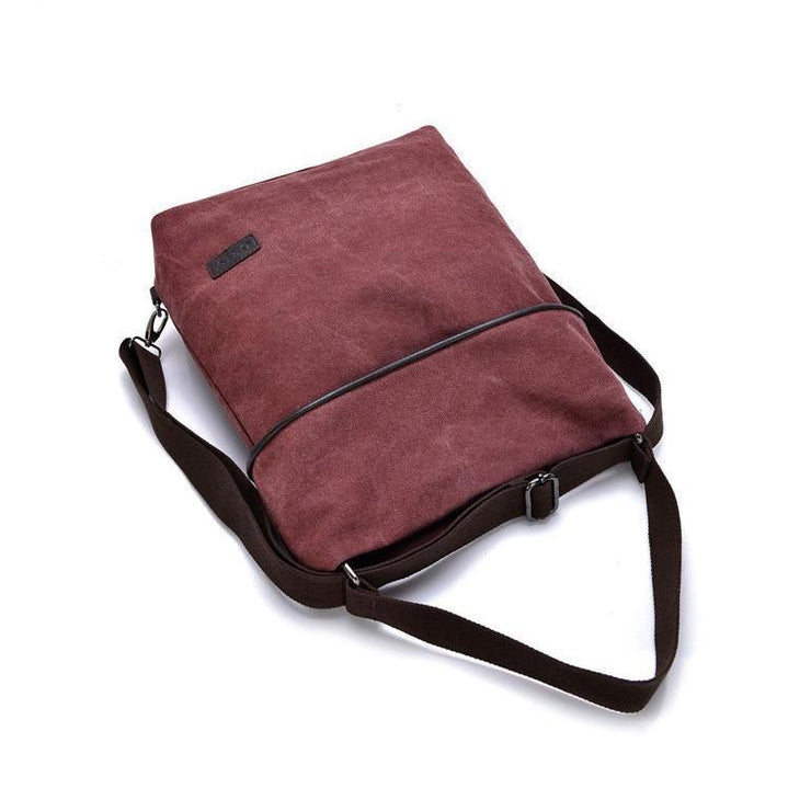 Multifunctional Daily Canvas Shoulder Bag Backpack