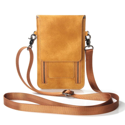 Women Leather Cell Phone Crossbody Phone Bag