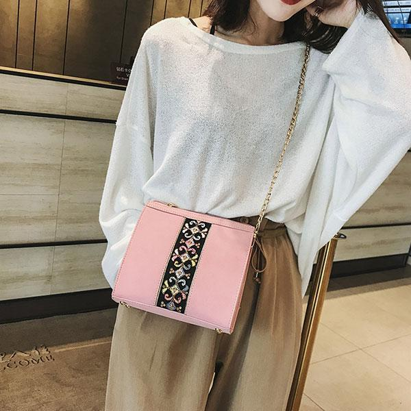 Printing Chain Strap Daily Shoulder Bag