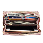 Colorful Double Zipper Wristlet