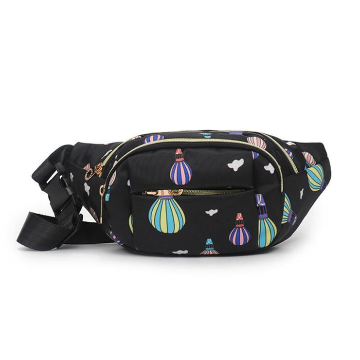 Multi-pocket Printing Casual Waist Pack