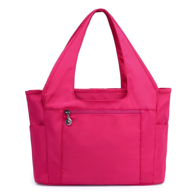 Solid Color Waterproof Large Capacity Tote