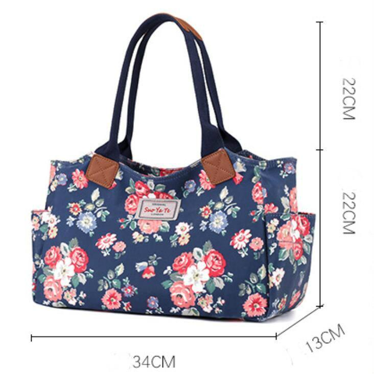 Floral Printing Large Capacity Outdoor Handbag
