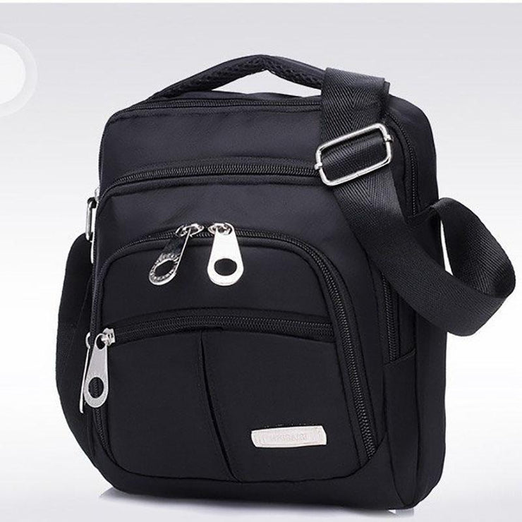 Multi-pocket Waterproof Solid Shoulder Bag