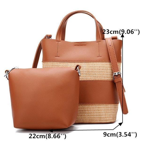 Woven Bucket Bag Large Capacity Crossbody Bag