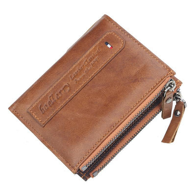 Men's Large Capacity Leather Short Wallet