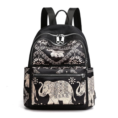 Women Waterproof Printed Large Capacity Backpack