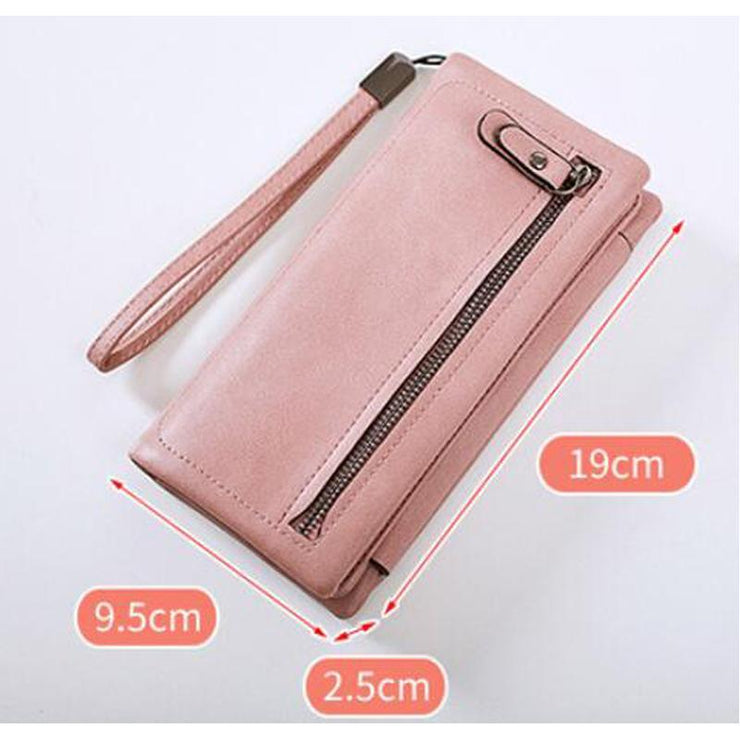 135151 Long wallet female Korean version of the new three-fold multi-card female wallet hand-held wallet