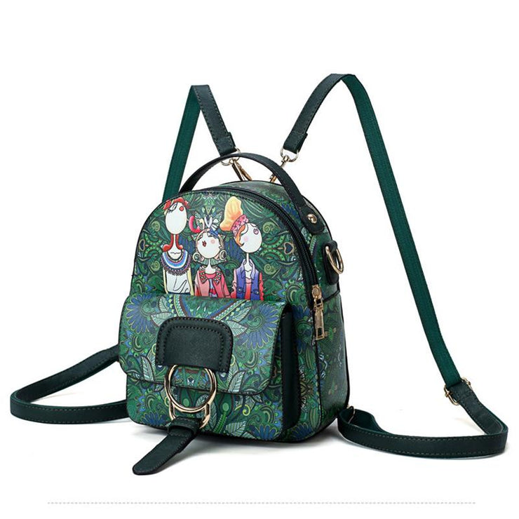 Summer Printing Outdoor Small Backpack