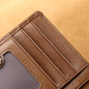 Men's Short Leather Zipper Wallet