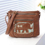 135357 Vintage literary folk style crossbody bag