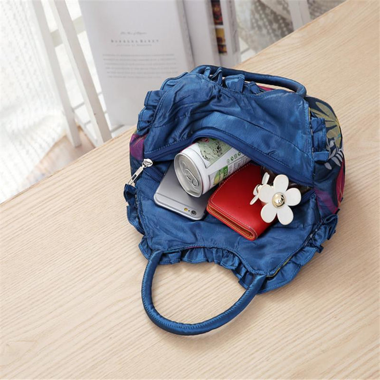 135444 New key bag small handbag canvas bag lace handbag mobile phone bag