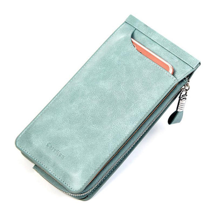 26 Card Slot Solid PU Leather Phone Wallet