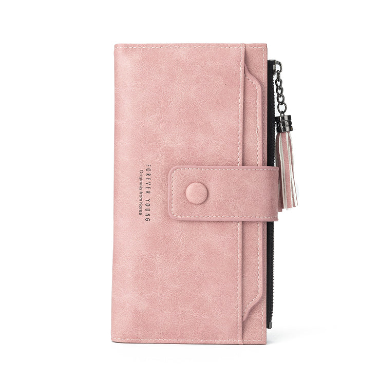 Women's wallet 2019 long European and American retro multi-function wallet driver's license zipper